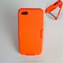 Shockproof Holster Combo Hard Mobile Phone Housing Case for iPhone 5 Belt Flip Case