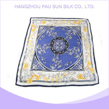 Factory sale various scarf silk blue color