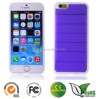TPU+Silicone 2 in 1 case for iphone6 with many functions slot