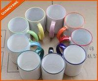 Wholesale 11oz white ceramic sublimation blank mug,Promotional 11oz Inside Color Ceramic coffee Mug, White heat transfer coffee