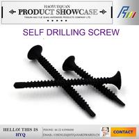 Black phosphat c1022 drywall screw self drilling screw with washers