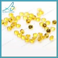 Golden yellow diamond nano loose stones aaa 1.2mm ,heat resistant 1200 degrees centigrade