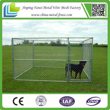 LARGE CHAIN LINK 6'x10'x6' DOG KENNEL PET PEN FENCE RUN OUTDOOR HOUSE ENCLOSURE