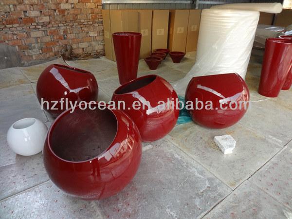 grande boule d corative fo 299 pots en fibre de verre pots. Black Bedroom Furniture Sets. Home Design Ideas