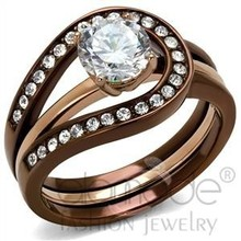 Fashion Jewelry Wholesale Le Chocolate Rose Gold Wedding Rings