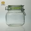 Wholesale Ball Glass Jar 30oz with colorful Hinge Glass Lid