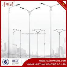 Road and street light single-arm conoid lamp pole