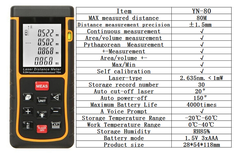 Laser Measuring Instruments : Measuring instruments cheap laser distance meter measure