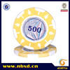 14g 2-Tone Leaf Design Clay Poker Chip With Custom Laser Stickers