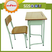 Adjustable school desk and chair/used school furniture for sale/used classroom furniture