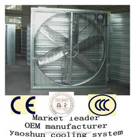 yaoshun exhaust fan heavy hammer type used for greenhouse poultry agriculture