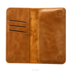 Jisoncase Handmade Bifold Retro Leather Wallet Long Purse Pocket Stylish Clutch Bag with Card Slots Note Section Phone Holder