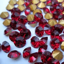small size siam pointed back rhinestones chaton stone for nail art