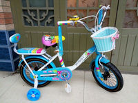 pretty kids bike with hand-woven basket/boys and girls bicycle