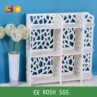 HOME-GJ cheap living room fueniture hand carved cube bookshelf