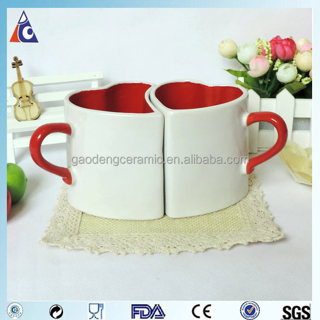 Red Heart Shaped Tea Cup Valentine Couple Mugs Buy
