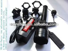 Sub-Zero 50mw green laser beam designator/flashlight for hunting