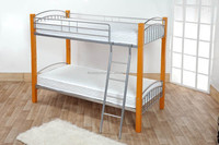 Home Furniture General Use and Wood Material pine wood double decker bed
