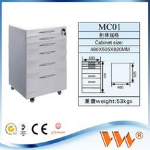 vw brand movable dental cabinet computer table