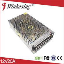 CCTV 12V 20A switching tattoo power supply