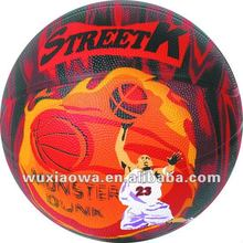 New design balls/ promotion balls / all printing rubber basketball(RB048)