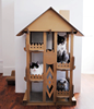 Wholesale play cat mat /cardboard cat house new design tree house for cats pets animal sleep play fun