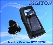 ham radio leather case Digital radio PD780 walkie talkie Leather case for HYT
