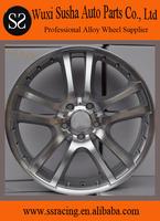 "15"" to 18"" replica matt black alloy wheel for C series"
