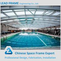 Steel space frame swimming pool roof