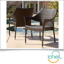 Wicker Chairs Porch Deck Lounger Outdoor Furniture Patio Chair Pool Set