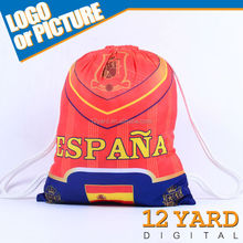 High Quality Spain Stylish Canvas Ball and shoes bags and school drawsting backpack