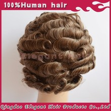 Top quality full cap swiss&french lace indian men hair toupee wig