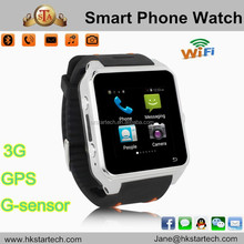 2015 Dual core Android Bluetooth 4.0 S83 Smart watch phone support GPS Navigation