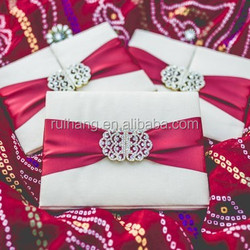 2015 best price gatefold silk box wholesale wedding invitation box