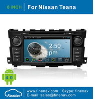 8inch Double din Car DVD Player for 2013 Nissan Teana with Gps Navgigation,3G/Wifi,Bluetooth,Ipod,Free map Support DVR,DVB-T