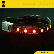 Cute Flashing pet accessories dog collars up country