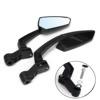 Universal Motorcycle Black Custom Rearview Side Mirror 10MM/8MM For Chopper/Honda/Yamaha/Suzuki