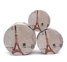 High quality fashion popular tower pattern round gift box