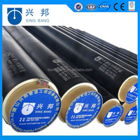 polyurethane foam material with hdpe jacket pre-insulated piping for 10 centigrade chiled water