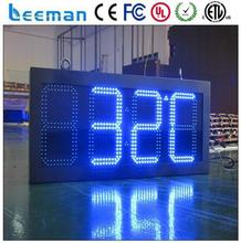 led digital wall clock die-casting aluminum radiator led gas price sign/led numbers