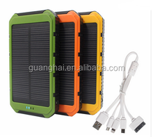 5000mAh dual USB Waterproof Solar Power Bank Bettery Charger For iphone Cell Phone travel