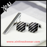 Blank Silver with Black Enamel Beautiful Make Your Own Tie Clip