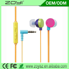 OEM factory earphone with silicone ear cup