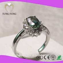 Quality Assurance 925 silver natural sapphire engraved ring