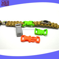 colored plastic webbing buckle ,plastic curved buckle clip,side release whistle buckle for bag