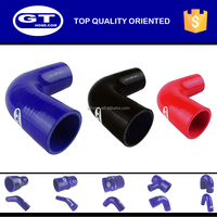 silicone rubber tubbing 90 degree pipe elbow/flexible reinforced hose