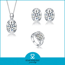 wholesale manufacturer AAA zircon 925 sterling silver bridal jewelry