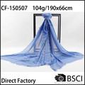 2015 da fábrica produzido voile 100 poliéster lenço