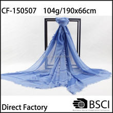 2015 from factory produced voile 100 polyester scarf