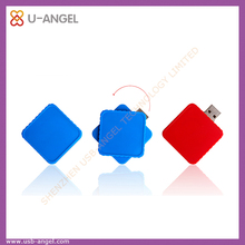 Blue square usb pen drive 2gb red plastic usb memory stick 2.0 usb memory stick unique